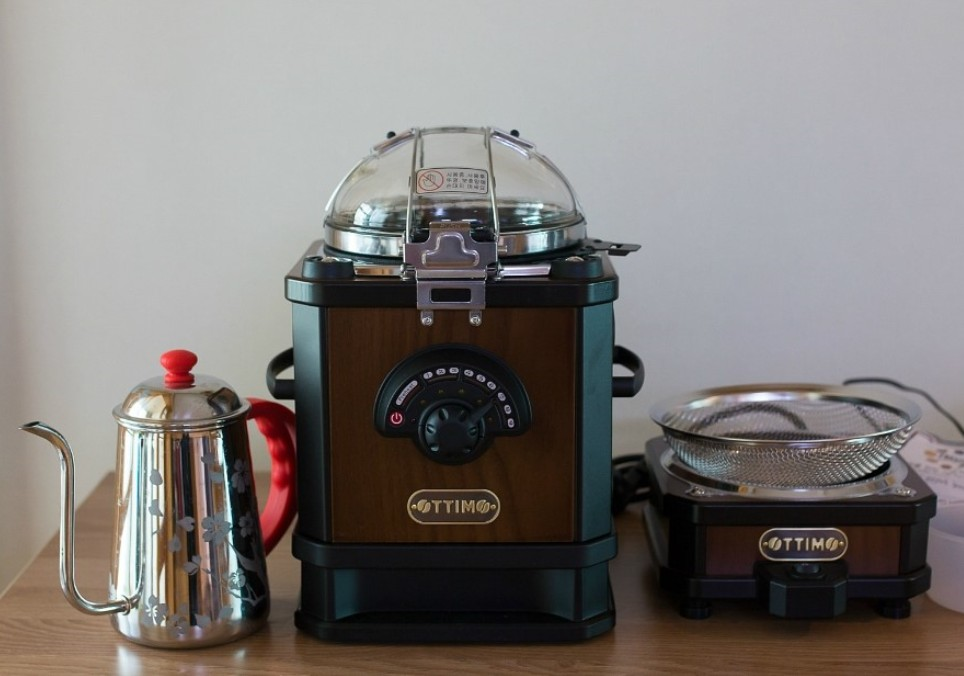Details about Ottimo Coffee Bean Roaster & Cooler For HomeCafe DIY Simple  Roasting AntiqueWood
