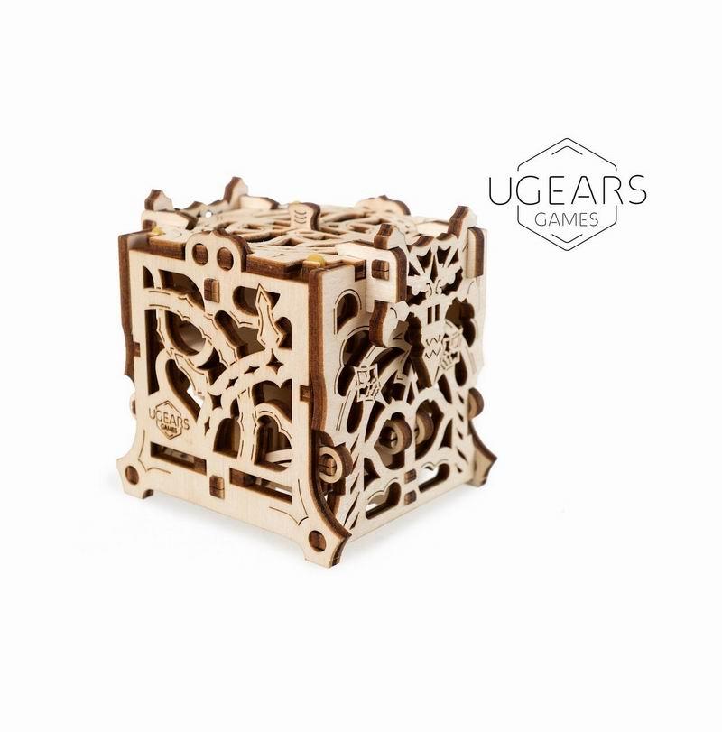 UGEARS Dice Keeper DIY Wooden Building Mechanical Model Gift Kit